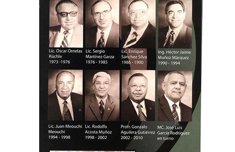 Los ocho directores del Cobach en toda su historia...