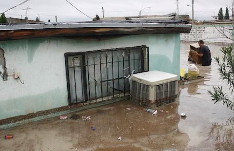 Evalúan autoridades de los tres niveles afectaciones por lluvias en Ciudad Juárez