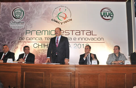 Encabeza Duarte entrega del  Premio Estatal de Ciencia, Tecnología e Innovación