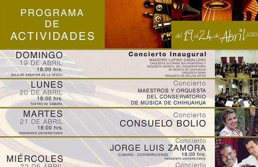 Invitan al Festival Internacional Guitarra Sin Fronteras en su edición XIII