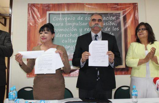 Firman Cedh y CAM colaboración para difundir la sana convivencia escolar