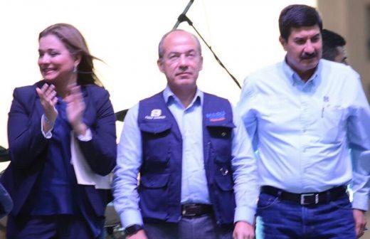 Acompaña Felipe Calderón a Maru Campos en arranque de campaña