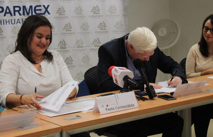 Firman convenio de colaboración Mukira y Coparmex para fomentar la participación juvenil