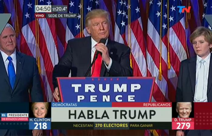Trump va a ser nuestro presidente, debemos recibirlo con mente abierta — Clinton