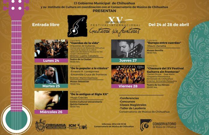 Arranca el 24 de abril el Festival Guitarra sin fronteras