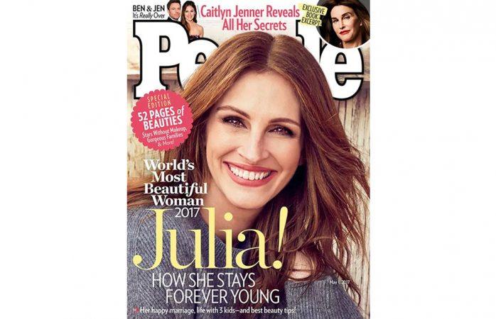 Es Julia Roberts la mujer más bella por quinta vez