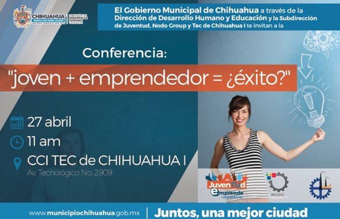 Invita Municipio al taller Joven + Emprendedor=¿éxito?