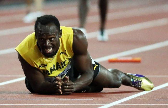 Dolorosa despedida de Usain Bolt, cae lesionado