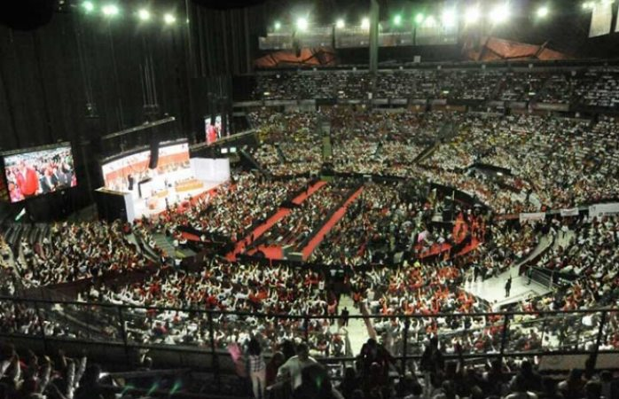 Inicia 22 asamblea general del PRI, en el Palacio de los Deportes