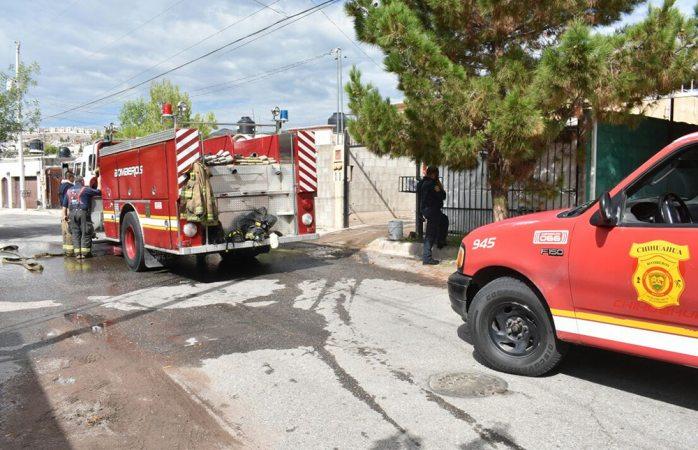 Se incendia cuarto en casa de la colonia Campo Bello