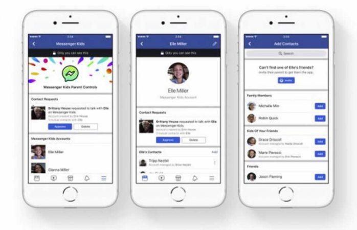 Lanza Facebook messenger para niños