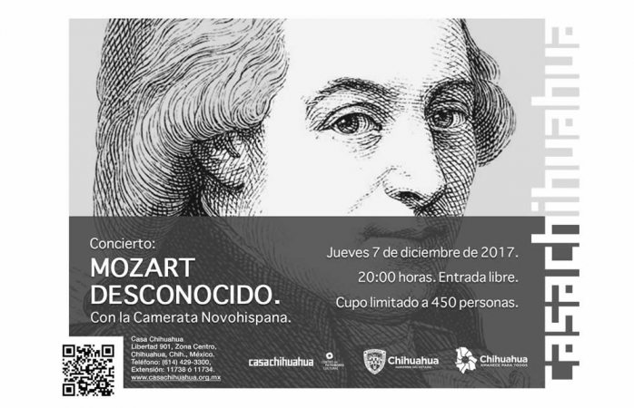 Invita Casa Chihuahua al concierto Mozart Desconocido