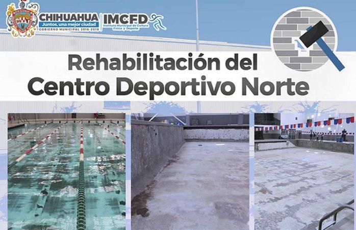 Remodelan Centro Deportivo Norte y Niño Espino