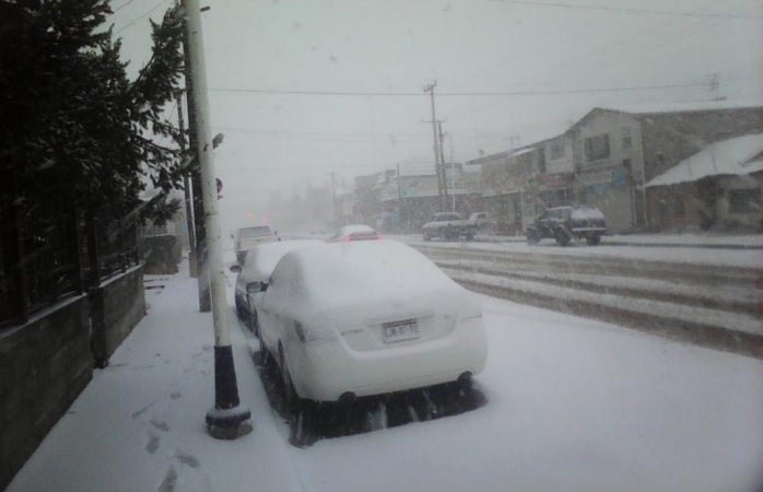 Cae intensa nevada en Madera