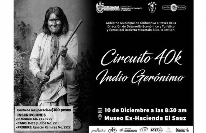 Realizarán hoy circuito de bicicleta de montaña del Indio Gerónimo