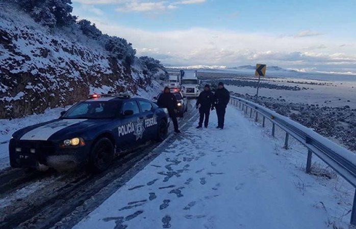 Cierran tramo de la carretera Janos-Agua Prieta por nevada