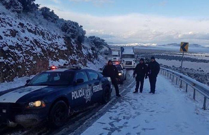 Cierran carretera a Sonora y Chihuahua por nevada