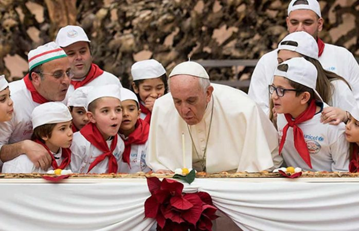 Festeja el papa su cumpleaños 81