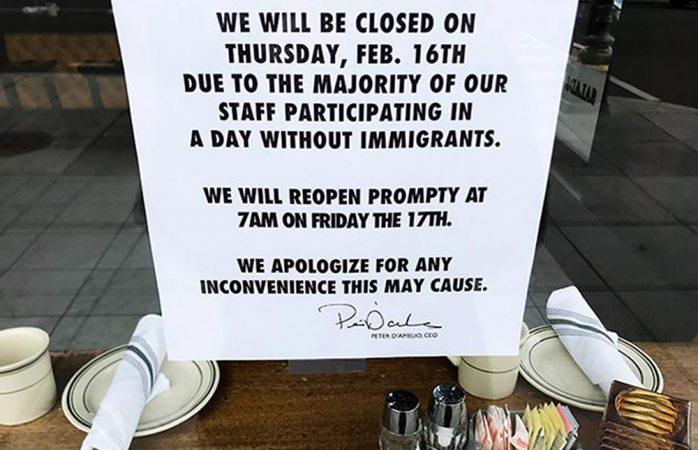 Le pega Un Día sin Inmigrantes al sector alimenticio en Washington