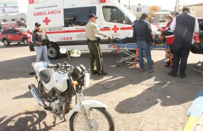 Arrollan a motociclista en la avenida Universidad