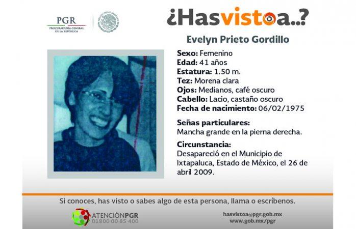 Piden ayuda para hallar a Evelyn Prieto Gordillo
