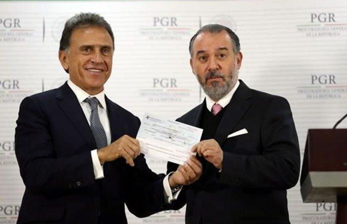 Devuelve la PGR a Veracruz 171 mdp desviados