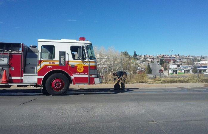 Se incendia pasto seco en la Vialidad Chepe