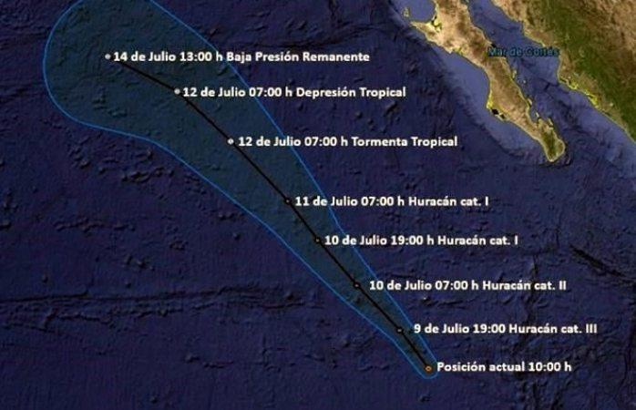 Huracán Eugene está 500 km de Isla Socorro sin afectar al país