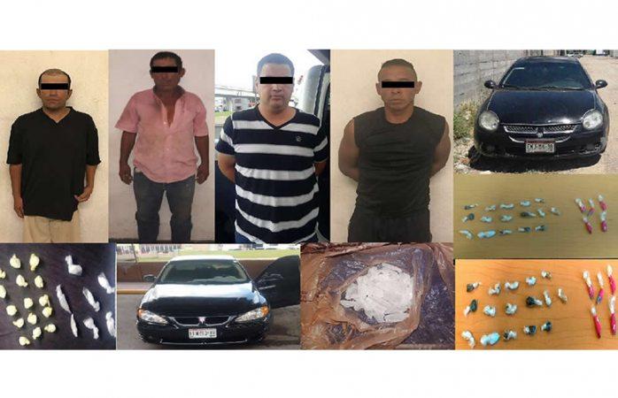 Detienen a cuatro narcomenudistas