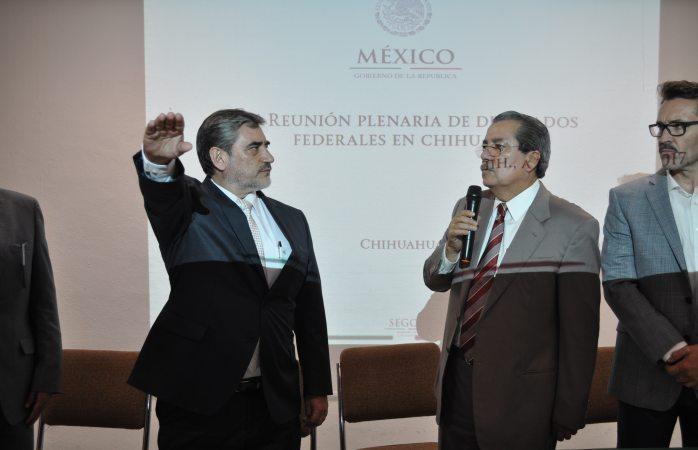 Rinde protesta Luis Carlos Campos como delegado de Segob