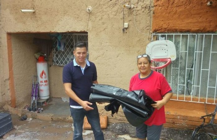 Apoya municipio a más de 80 familias ante las contingencias climáticas