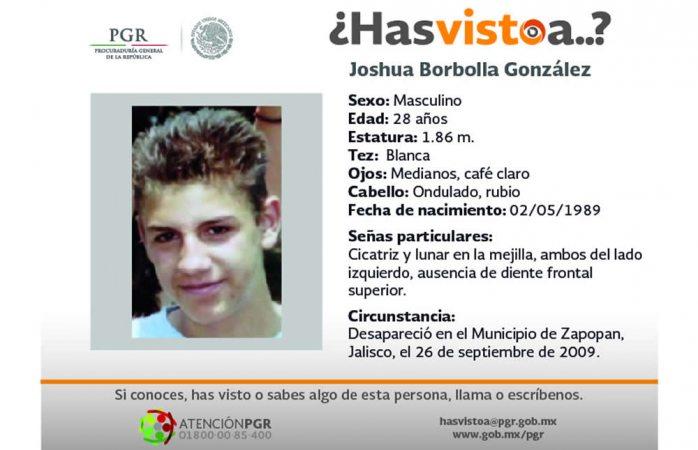 Piden ayuda para hallar a Joshua Borbolla González