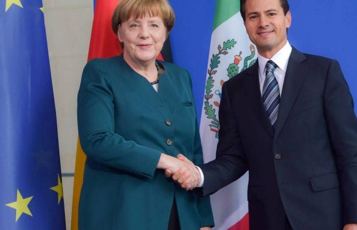 Angela Merkel y Peña Nieto reafirman su compromiso con el libre comercio