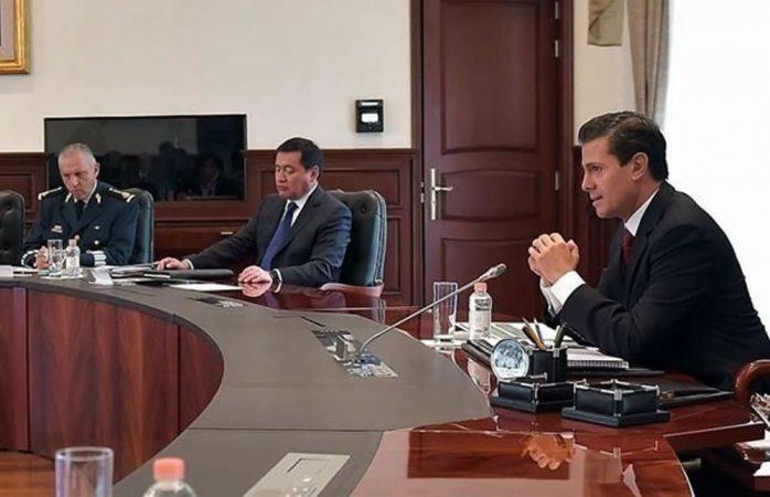 Peña Nieto presidió reunión de gabinete de seguridad nacional en Los Pinos