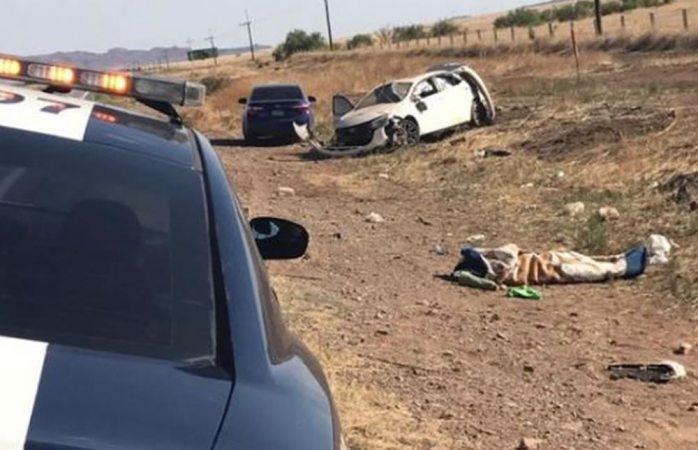 Murió tras volcadura en la carretera a Juárez