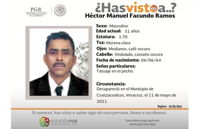 Piden ayuda para hallar a Héctor Facundo Ramos