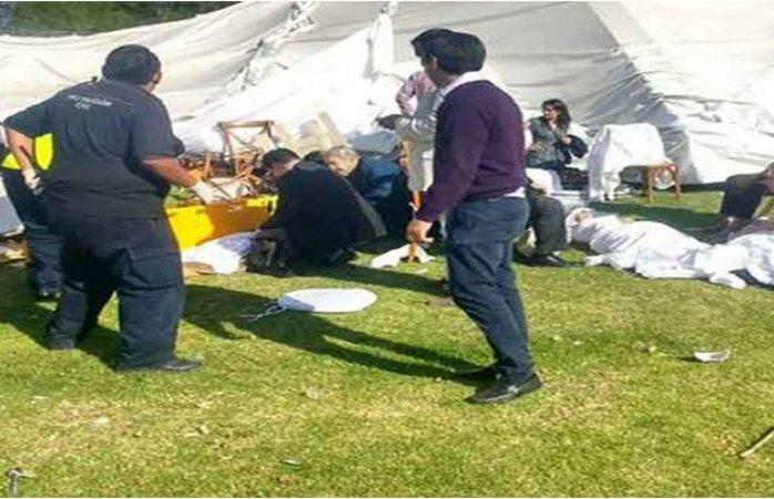 Cae carpa en celebración de primera comunión; hay 41 lesionados