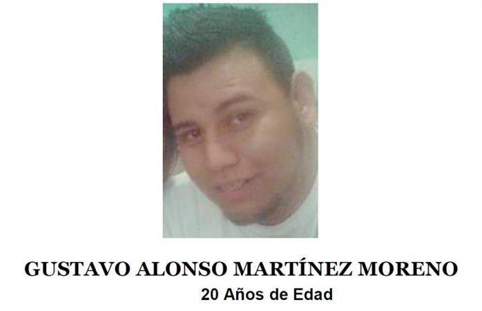 Piden ayuda para localizar a Gustavo Alonso Martínez Moreno