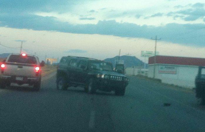 Abandonados 17 vehículos tras el enfrentamiento en Cuauhtémoc y Rubio