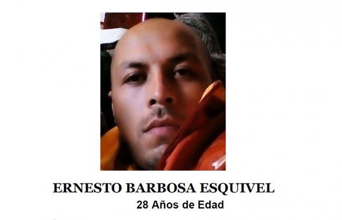 Solicitan ayuda para hallar a Ernesto Barbosa Esquivel