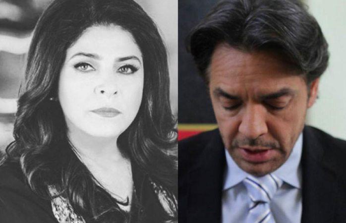 Victoria Ruffo desata polémica  al recortar a Derbez