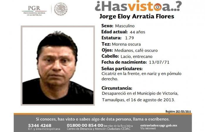 Piden ayuda para hallar a Jorge Eloy Arratia Flores