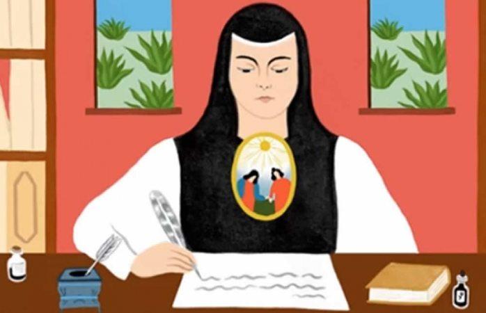 Dedica Google doodle a Sor Juana Inés de la Cruz