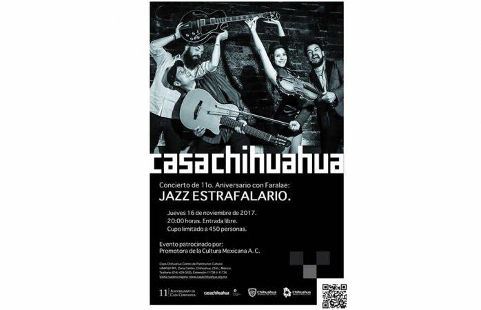 Invita Casa Chihuahua a concierto para celebra su 11 aniversario