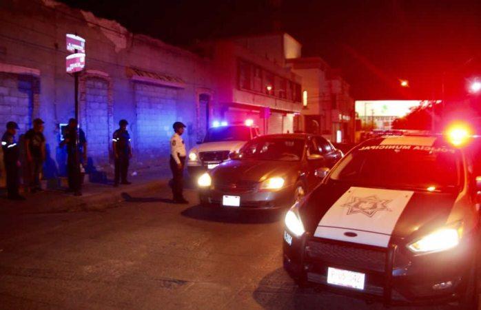 Instalan policías municipales otro retén en el centro