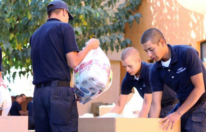 Apoyan cadetes de Dspm como voluntarios en Cruz Roja
