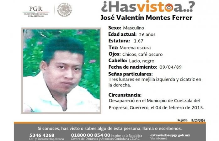 Piden ayuda para hallar a José Valentín Montes Ferrer