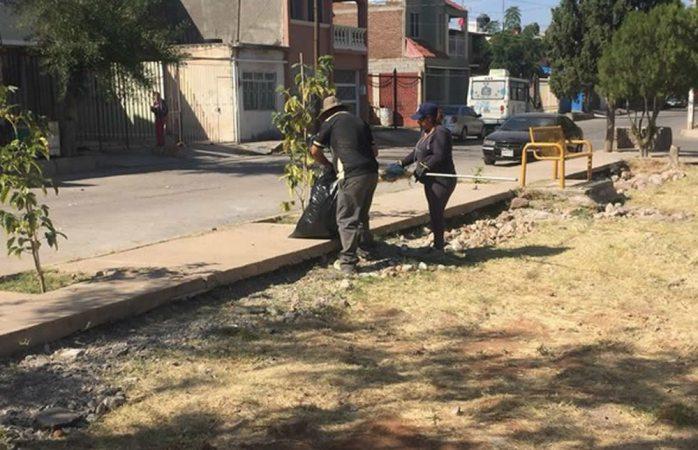 Realiza municipio limpieza en más de 40 parques de la ciudad