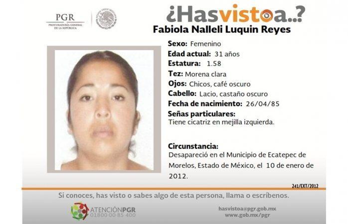 Piden ayuda para hallar a Fabiola Nalleli Luquin Reyes