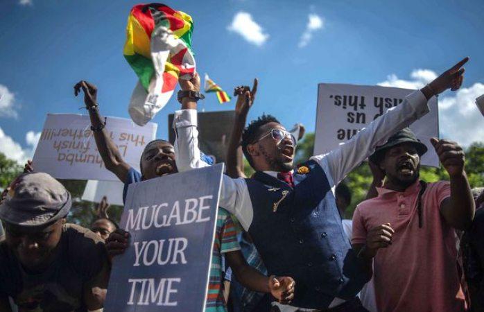 Estalla el júbilo en Zimbabue a la caída de Mugabe